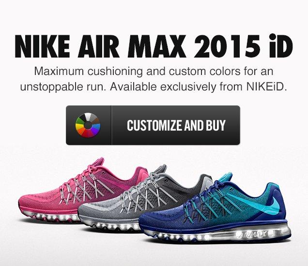 b85ebe633171 Nike  All-New Nike Air Max 2015 iD