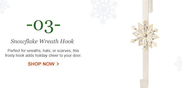 October Hill Snowflake Wreath Hook