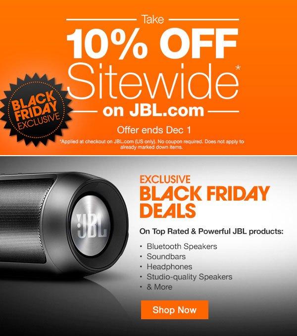 Jbl Black Friday Deals 50 Off Jbl Pulse 100 Off Soundbars 10 Off Sitewide More Milled