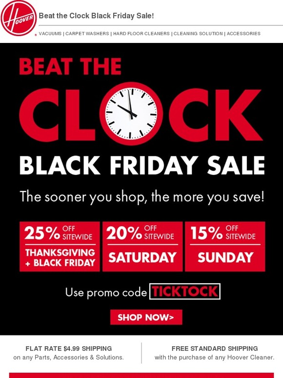 Hoover Beat The Clock Black Friday Sale Milled
