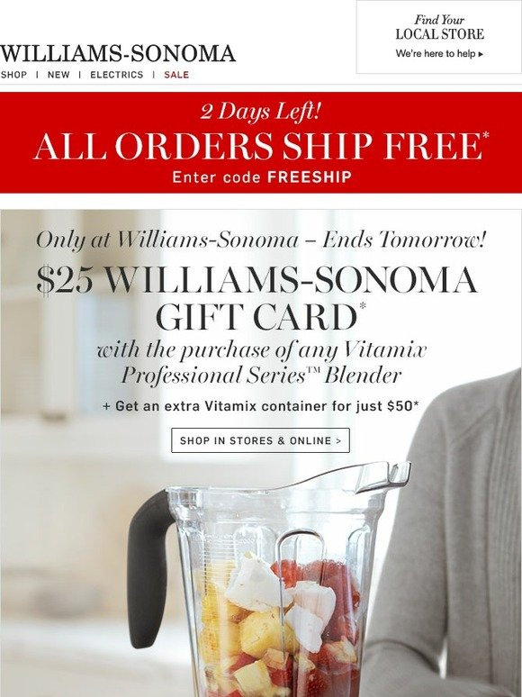 picture about William Sonoma Coupon Printable identify Williams sonoma coupon code november 2018 - Coupon codes for