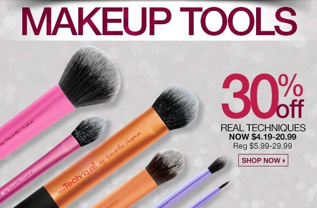 30 Percent Off Real Techniques Now $4.19 - $20.99 - Reg. %5.99 - $29.99 - Shop Now