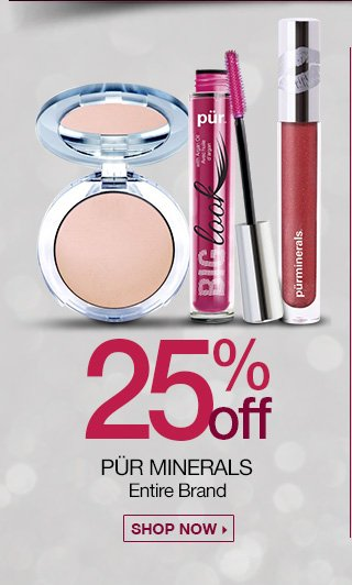 25 percent off Pur Minerals Entire Brand, Shop Now