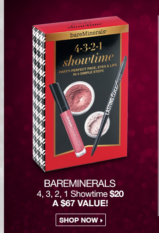 bareMinerals 4, 3, 2, 1 Showtime $20 - A $67 Value! Shop Now