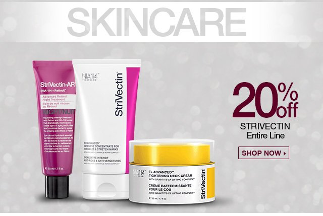 20 Percent off Strivectin Entire Line - Shop Now