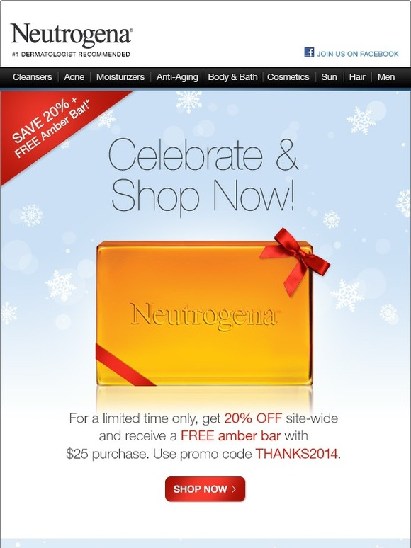 Neutrogena: Shop Now! 20% Off Orders + Rainbath® Holiday Gift Set – Limited Time! | Milled