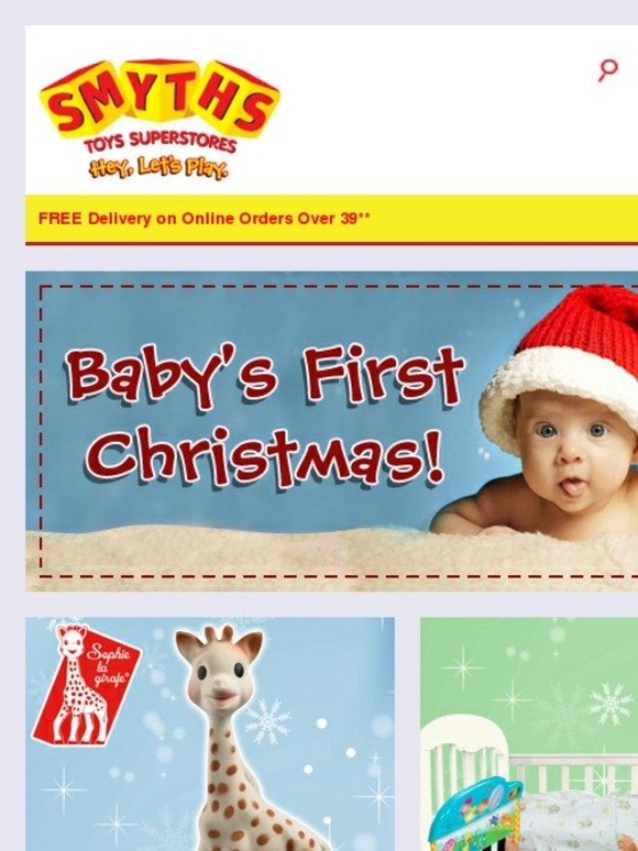 smyths toys hq gifts for baby 39 s first christmas plus save. Black Bedroom Furniture Sets. Home Design Ideas