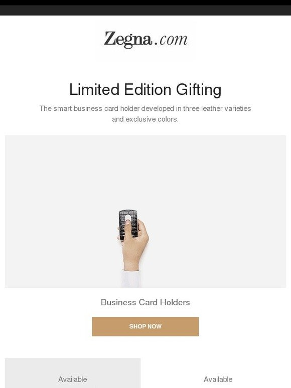 Zegna limited edition gifts business card holders milled reheart Image collections