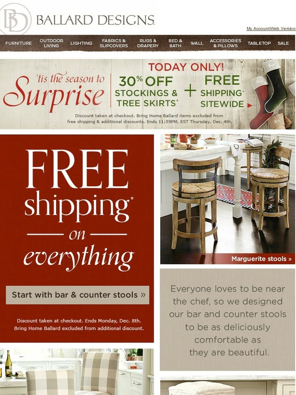 ballard designs free shipping coupons ballard designs 20 off on any order at ballard designs dealspotr