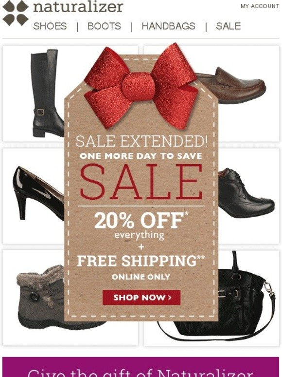 Sale extended! Extra 20% off everything