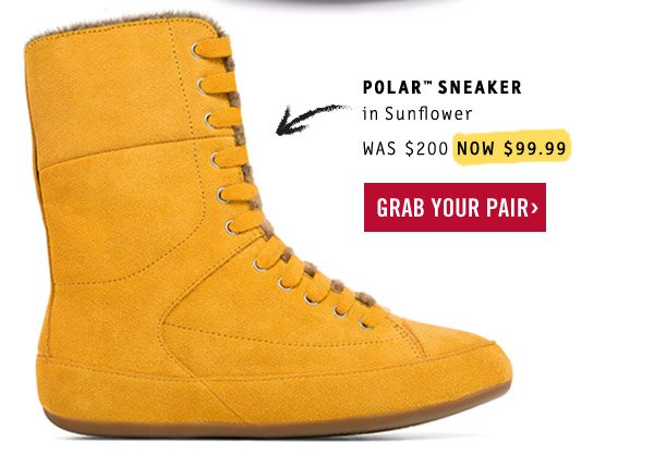 ad1d646deb43 POLAR SNEAKER in Sunflower. NOW  99.99. Grab your pair