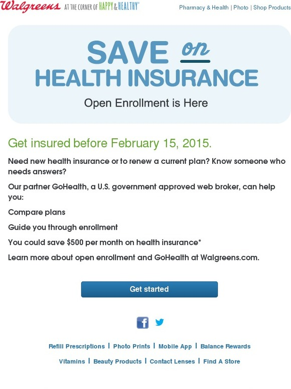 Walgreens Health Insurance Open Enrollment Is Going On Now Milled