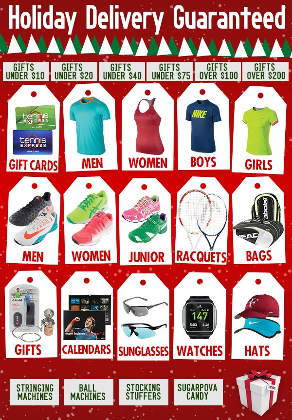 Tennis Express You Ve Still Got Time Free Holiday Shipping