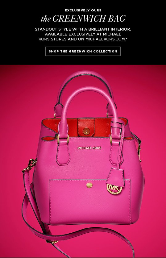 Michael Kors Meet The Greenwich Bag Our Exclusive New