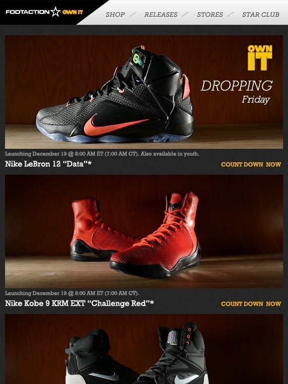 35f6fdd13c91 Footaction   Own IT 12.19 - Nike LeBron 12