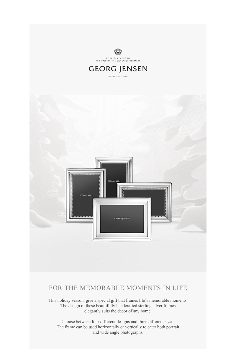 Georg Jensen: Frame your Holiday Memories: NEW Georg Jensen Silver ...