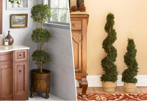 Fuss-Free Greenery: Florals & Topiaries
