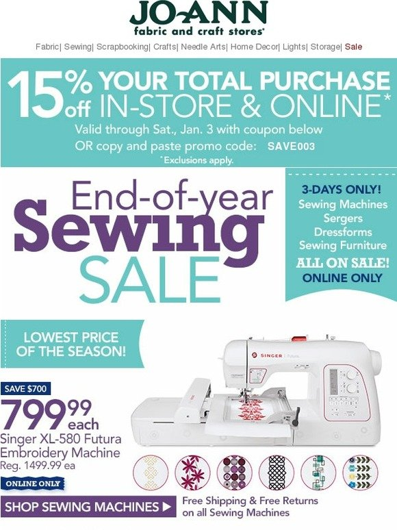 JoAnn Fabric And Craft Store All Sewing Machines Sergers Interesting Sewing Machine At Joanns Fabric