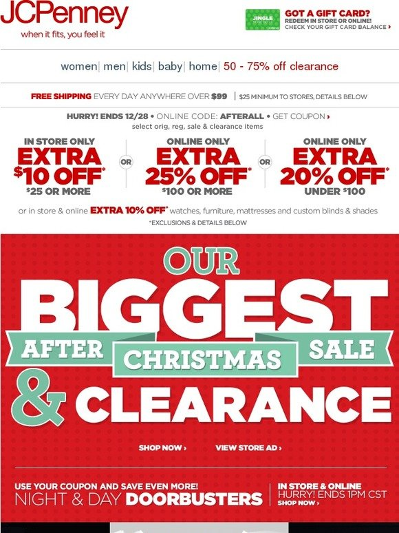 Jc Penney Stock Up White Sale Extra 10 Off Or Extra 25