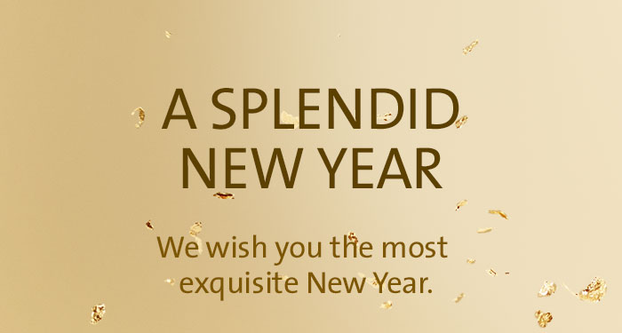 A SPLENDID NEW YEAR | We wish you the most exquisite New Year. May all your dearest wishes come true!