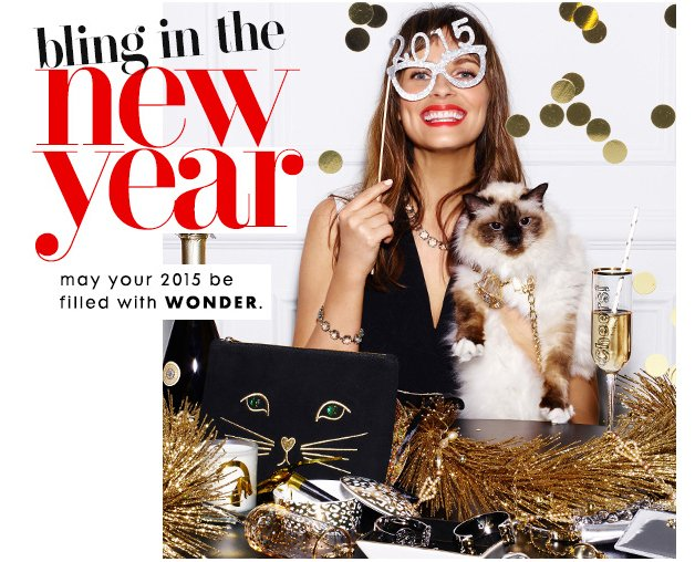 Bling in the New Year. May your 2015 be filled with wonder!