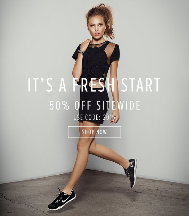 It's A Fresh Start! For 50%, Off Use Code: 2015