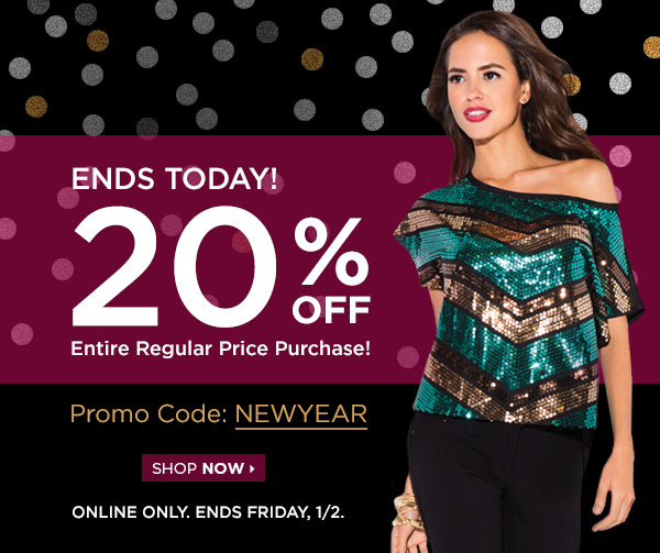 LAST DAY! Celebrate the New Year with 20% Off! Ends Friday, January 2!