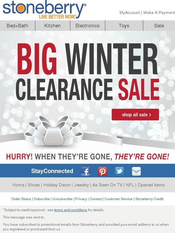 Stoneberry: Winter Clearance Sale!   Milled