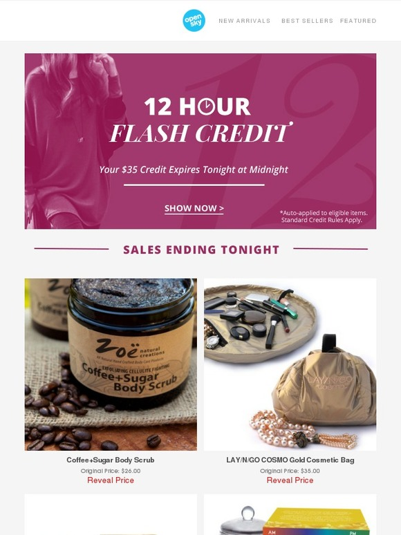 6d5d9ac4e8 Opensky  Flash! Sale! You Have A  35 Credit