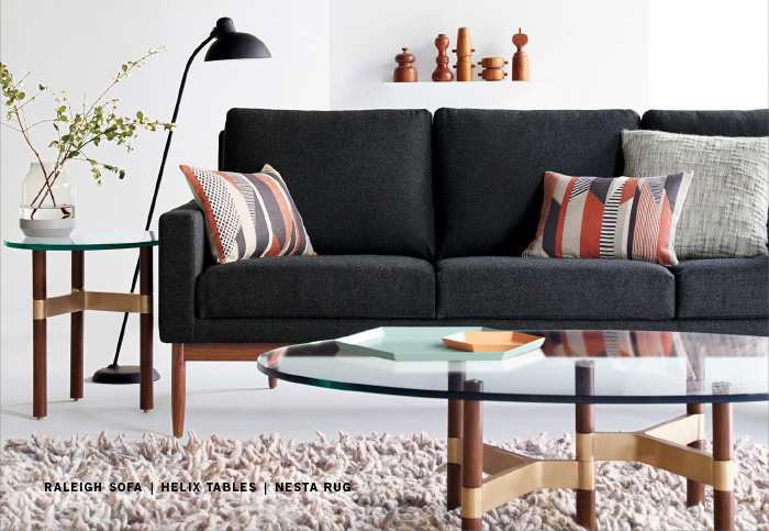 Superbe Raleigh Sofa Helix Tables Nesta Rug