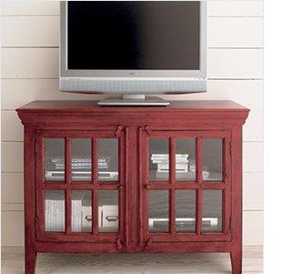 ... Rojo Red 46u0027u0027 Media Storage Cabinet