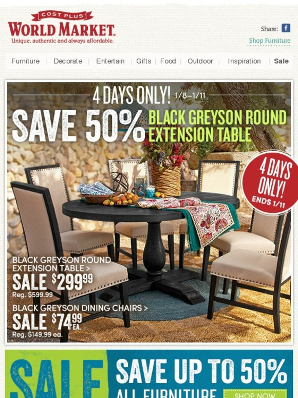 10% Off World Market Promo Code. Furnish your home in style and savings when you shop this special Cost Plus World Market coupon code! Get 10% Off Any Order now!