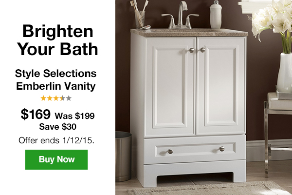 Genial Brighten Your Bath. Style Selections Emberlin Vanity $169.00, Was $199.00.  Save $30.