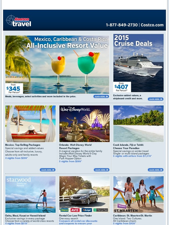 Costo Costco Travel All Inclusive Resort Value From 345