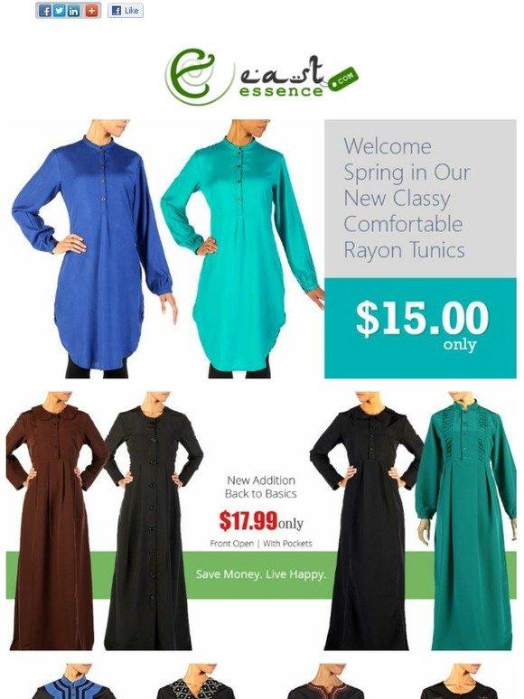 Ihram Kids For Sale Dubai: East Essence: New Basic Abayas $17.99