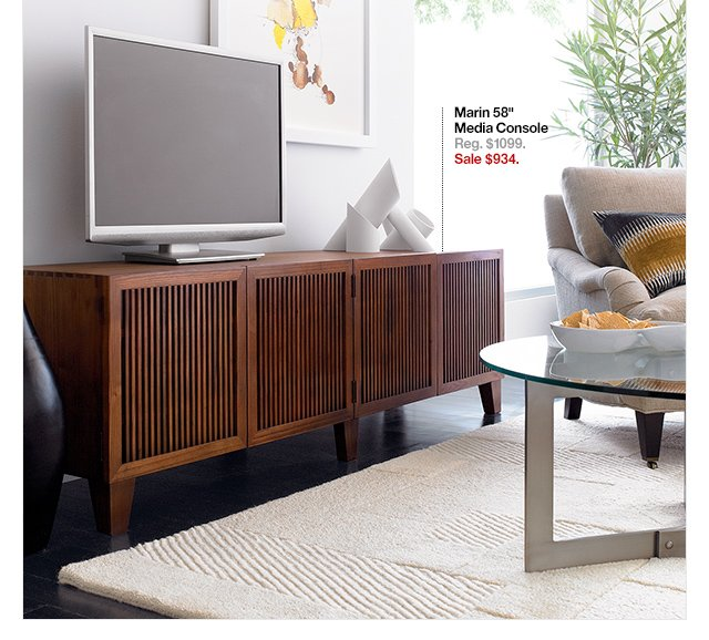 crate and barrel: up to 20% off your big screen's new best friend