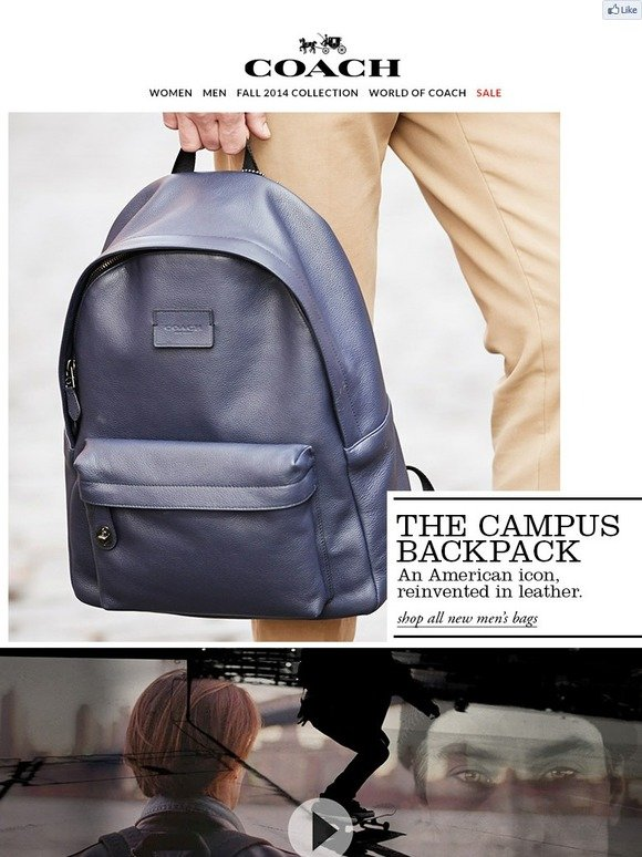 285df37e9eb Coach  Introducing The Campus Backpack   Milled