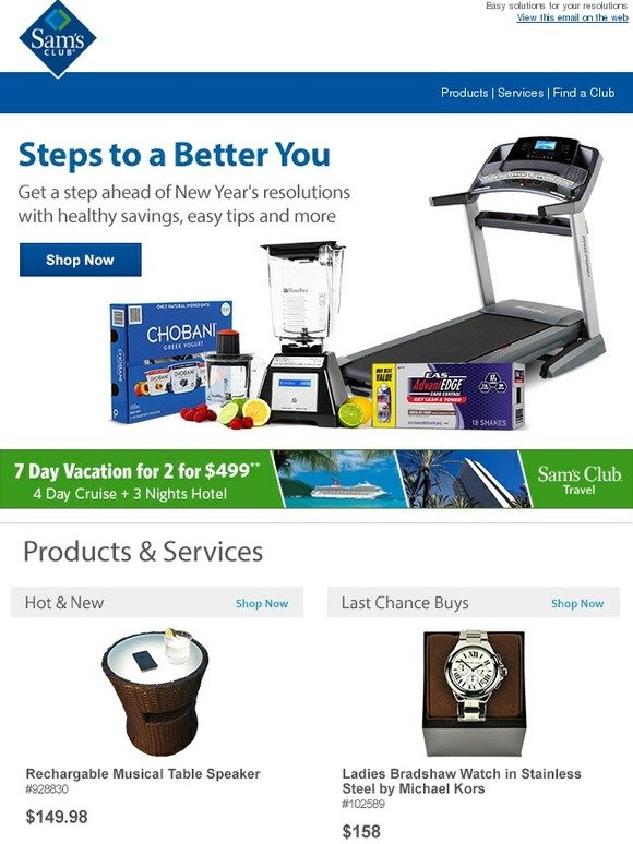 Sams Club: Welcome 2015 with health & happiness for you ...