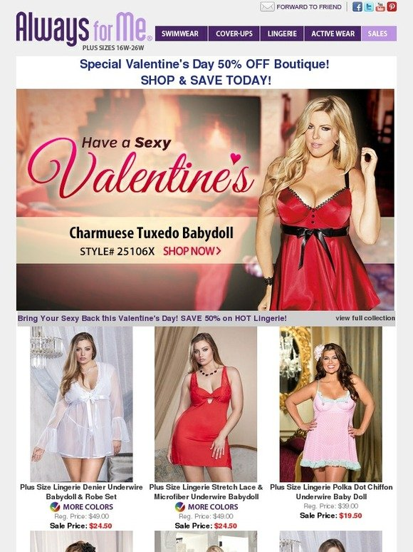 11ee2ce107 Always for Me  50% OFF Sexy Valentine Lingerie - SHOP NOW