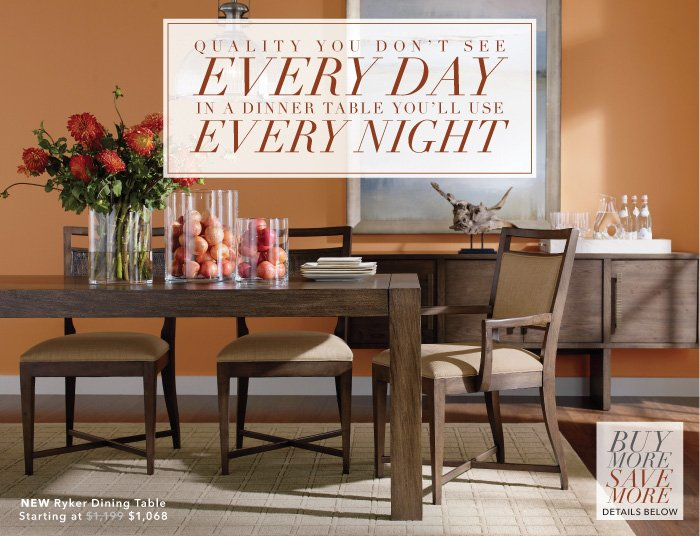 Ethan Allen: Our Ryker dining table: Parsons style, classic