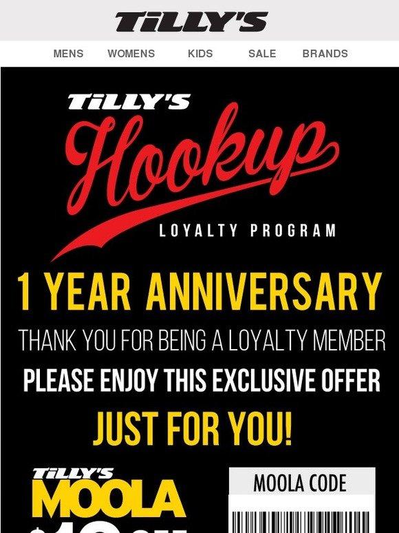 tillys hookup customer number