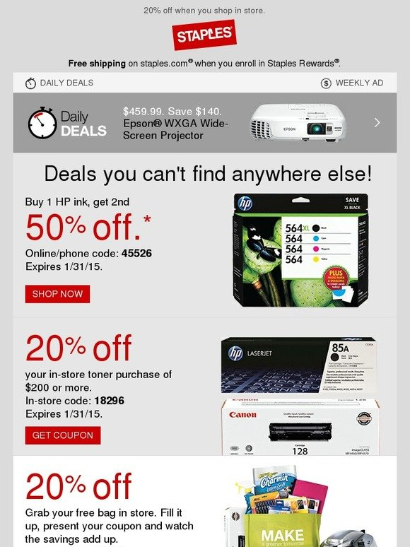 staples  buy 1  get 1 50  off only at staples