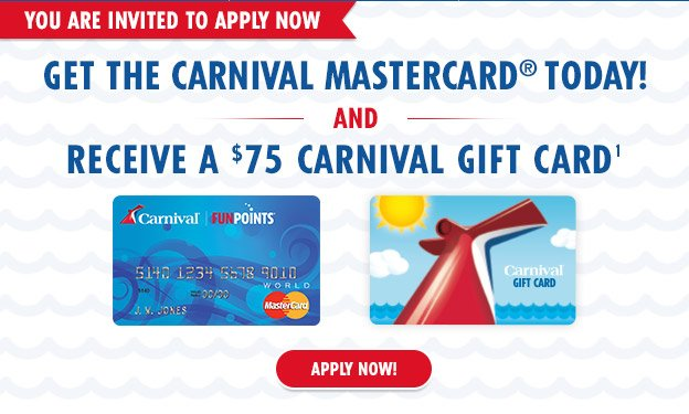 carnival cruise gift card carnival cruises apply now get a 75 carnival gift card 5694