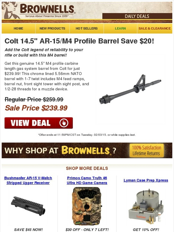 Brownells: Save Now on Colt 14 5
