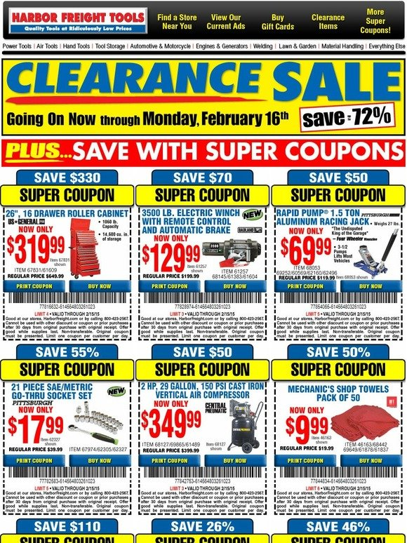 harbor freight cyber monday coupon code. Black Bedroom Furniture Sets. Home Design Ideas