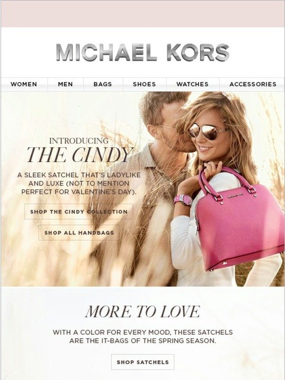 Michael Kors Meet Cindy A Chic Bag She Ll Love Milled