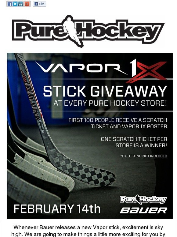 Pure Hockey: Win the New Bauer 1X Stick | Milled