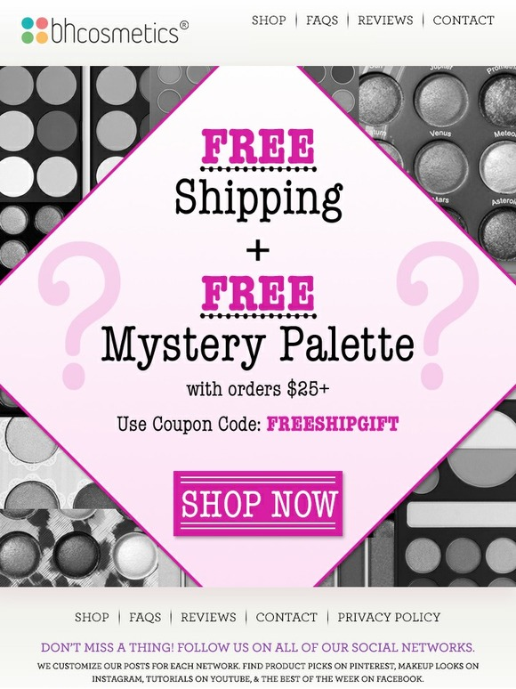 Bh cosmetics coupon code 2018 free shipping