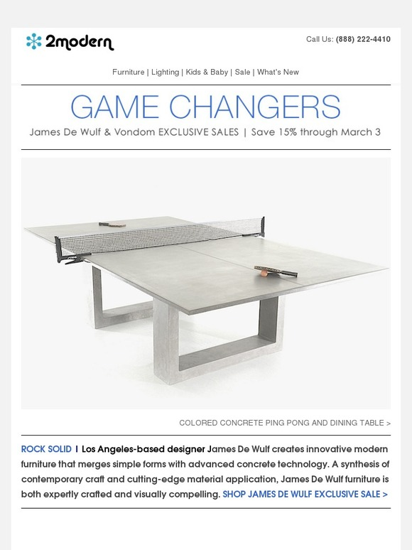2modern Com Exclusive Outdoor Sales James De Wulf Vondom Sales