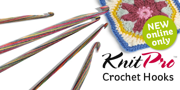 KnitPro Waves Single Ended Crochet Hook With Colourful Soft Grip Handle 19 Sizes